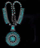Zuni Turquoise Cluster Necklace Pawn Navajo Made Victor Moses Begay