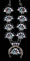 Zuni Inlay Sunface Necklace WM Zunie