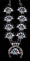 Zuni Inlay Sunface Necklace WM Zunie