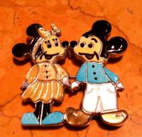 Zuni Minnie & Mickey Mouse Multi Color Pin Pendants