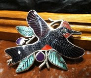 Zuni Multi-Inlay Vermillion Flycatcher H.M. Coonsis