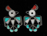 Zuni Multi-Color Inlay RainBird Pawn Cuff Links