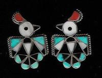 Zuni Multi-Color Inlay RainBird Pawn Cuff Links