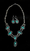 Sterling Silver Turquoise Navajo Choker Necklace