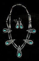 Sterling Silver Navajo Turquoise Choker Necklace