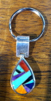 Sterling Silver Multi-Stone Key Ring SOLD