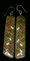 Santo Domingo Turquoise Multi-Color Inlay Earrings Daisy Reano SDTMCIE6