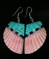 Santo Domingo Turquoise Multi-Color Inlay Earrings Daisy Reano SDTMCIE5