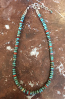 SANTO DOMINGO 1 STRAND TURQUOISE BEADED HEISHI NECKLACE_7 Ken Aguilar