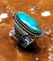 RINGS NAVAJO SILVER TURQUOISE PAWN HH