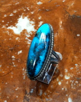 RINGS NAVAJO SILVER TURQUOISE PAWN RNSTP43