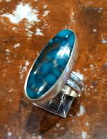 RINGS NAVAJO SILVER TURQUOISE Everett & Mary Teller RNSTEMT2