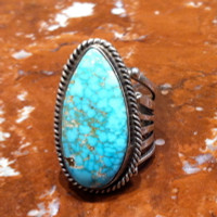 RINGS NAVAJO SILVER TURQUOISE Annie Haskie