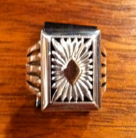 RINGS NAVAJO SILVER GOLD RECTANGULAR Howard Nelson