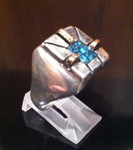 RINGS NAVAJO SILVER & GOLD TURQUOISE Ron Henry SOLD