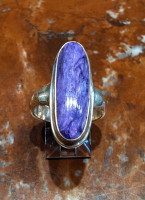 RINGS NAVAJO SILVER CHARITE OVAL SOLD