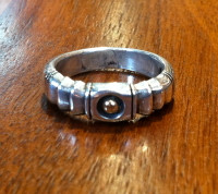 RINGS NAVAJO SILVER BAND Jimmy King Style RNSBJKS2