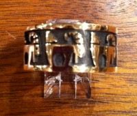 RINGS HOPI SILVER GOLD OVERLAY RAM MOUNTAIN GOAT SHEEP Marvin Lucus RHSGORMGS2