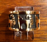RINGS HOPI SILVER GOLD OVERLAY RAM MOUNTAIN GOAT SHEEP Marvin Lucus SOLD