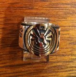 RINGS HOPI SILVER GOLD OVERLAY MAN IN MAZE KOKOPELLI BADGER BEARPAW Art Batala