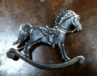 PIN STERLING SILVER ROCKING HORSE PIN CLARENCE LEE