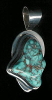 PENDANT NAVAJO STERLING SILVER & TURQUOISE Phillip Zachary
