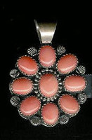 PENDANT NAVAJO STERLING SILVER & CORAL Jeannette Dale SOLD