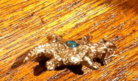 PIN NAVAJO 14KT GOLD HORNED TOAD