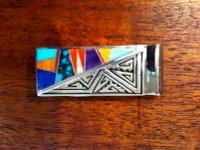 Navajo Multi-Stone Inlay Money Clip TSF SOLD