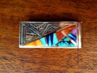 Navajo Multi-Stone Inlay Money Clip E. David SOLD
