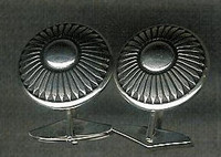 NAVAJO SILVER CUFF LINKS KEE NEZ SOLD