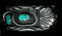 Navajo 1970's CW Pawn Collection Snake Turquoise Watch Bracelet SOLD