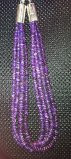 NAVAJO 4 STRAND SUGILITE HEISHI NECKLACE ALBERT LEE SOLD