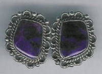 EARRINGS NAVAJO SUGILITE W