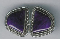 EARRINGS*NAVAJO*SUGILITE*W