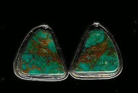 EARRINGS NAVAJO SILVER TURQUOISE Lola Daw