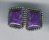 EARRINGS NAVAJO SUGILITE JEANETTE DALE