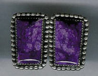 EARRINGS*NAVAJO*SUGILITE*JEANETTE DALE ERNSJD2