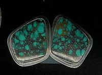 EARRINGS*NAVAJO*SILVER*TURQUOISE*D