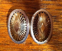 EARRINGS NAVAJO SILVER & 14KT GOLD CLIP Howard Nelson