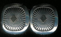 EARRINGS NAVAJO 14KT GOLD & SILVER SQUARE FEATHER PATTERN Howard Nelson ENGSSFPHN3