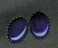 EARRINGS NAVAJO 14kt GOLD LAPIS