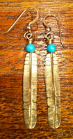 EARRINGS ISLETA 14KT GOLD FEATHER Melanie Kirk SOLD