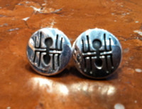 EARRINGS HOPI SILVER ROUND SMALL SPIDER ARACHNOPHOBIA
