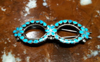 BARRETT ZUNI SILVER SLEEPING BEAUTY TURQUOISE  Virgil Dishta