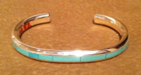 BRACELETS ZUNI MULTI-INLAY VARACITE Thomas Natachu