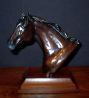 """BRONZE Robert B. Tate """"Horse Head Bust""""_1"""