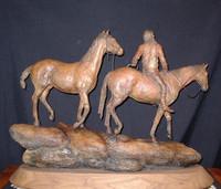 "BRONZE Jack Muir ""Where Ponies Leave No Tracks"""