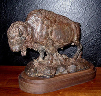 "BRONZE Jack Muir ""Tatonka"" Bison Buffalo"