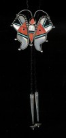 BOLO TIES*ZUNI INLAY*BUTTERFLY 1